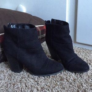 Block chunky ankle boots